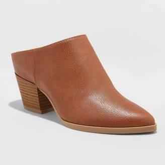 Universal Thread Women's Makana Faux Leather Heeled Mule