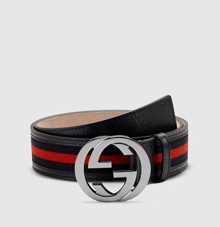 Gucci signature web belt with interlocking G buckle