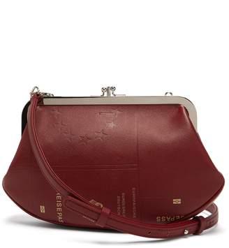 Vetements Granny passport-print saffiano-leather bag
