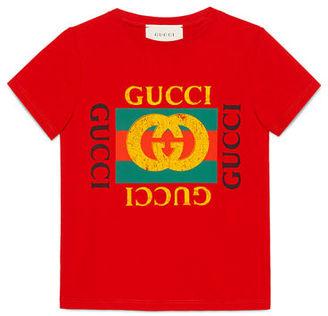 Gucci Gucci Logo T-Shirt, Size 4-12 $135 thestylecure.com