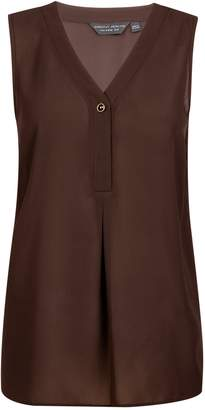 Dorothy Perkins Womens Chocolate Sleeveless Top