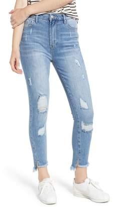 AFRM Ripped High Waist Step Hem Skinny Jeans