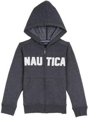 Nautica Big Boys Full Zip Classic Logo Fleece Hoodie