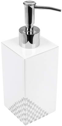 Mike and Ally Mike + Ally - Matrix Soap Dispenser - White & Silver