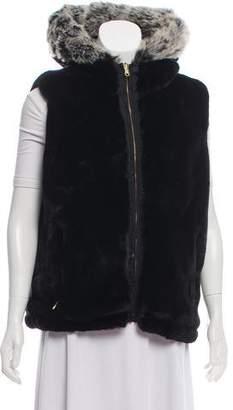 Obermeyer Faux Fur-Trimmed Embroidered Vest