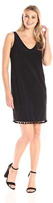 Tiana B Women's Solid Jersey Sleeveless V-Neck Sheth with Trim Detail