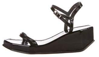 Rob-ert Robert Clergerie Patent Leather Platform Wedges