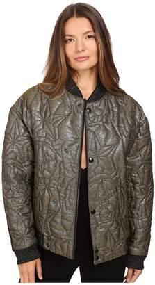 Just Cavalli Glitter Tiger Embroidered Oversized Bomber Women's Coat