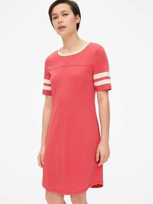 Gap Varsity Stripe Short Sleeve T-Shirt Dress
