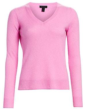 Saks Fifth Avenue Women's COLLECTION Featherweight Cashmere V-Neck Sweater