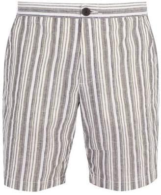 Oliver Spencer Striped cotton and linen-blend shorts