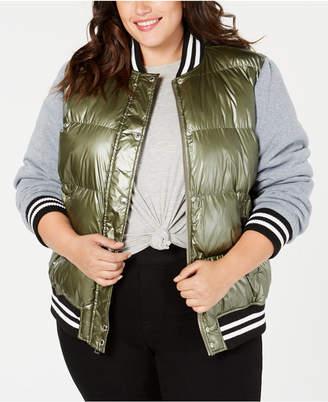 Levi's Plus Size Mixed-Media Varsity Jacket
