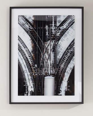"""Train Tracks"" Photography Print on Photo Paper Framed Art"