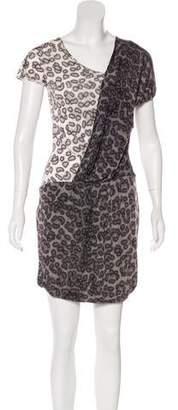 Just Cavalli Drape-Accented Mini Dress