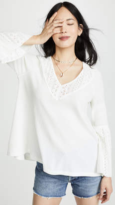 Free People Parisian Nights Long Sleeve Top