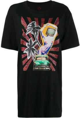 A.F.Vandevorst graphic print longline T-shirt