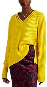 BY. Bonnie Young Women's Rib-Knit Cashmere-Blend Oversized Sweater - Yellow