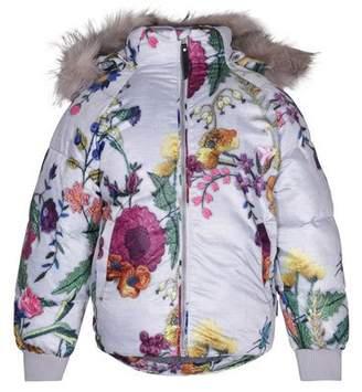 Molo Henrika Floral-Print Coat, Size 3-10