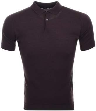 John Smedley Payton Polo T Shirt Brown