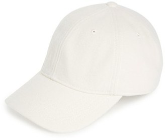 Women's Madewell Wool Blend Baseball Cap - White $32 thestylecure.com