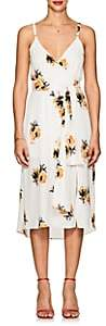 A.L.C. Women's Marin Floral Silk Tie-Waist Dress-White