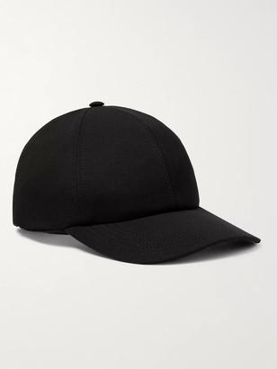 Valentino Garavani Logo-Embroidered Stretch-Wool Twill Baseball Cap - Men - Black