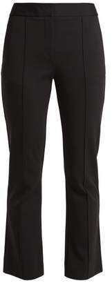 Diane von Furstenberg Mid Rise Flared Cropped Trousers - Womens - Black