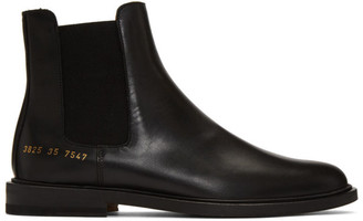 Common Projects Woman By Woman by Black Leather Chelsea Boots