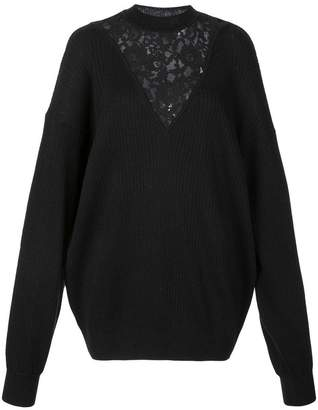 See by Chloe floral lace knitted jumper