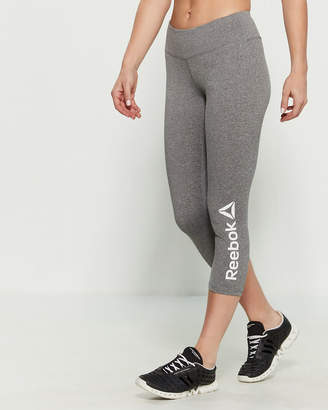 Reebok Grey Heather High-Rise Capri Leggings