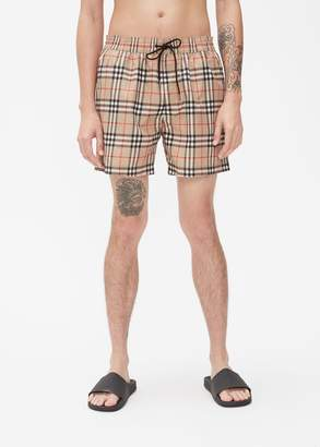 ced306a3f9 Burberry Grafton Archive Check Swim Trunk
