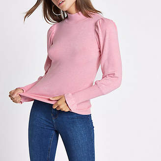 River Island Pink turtle neck long sleeve sweater
