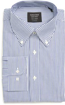 Nordstrom Tech-Smart Traditional Fit Stretch Stripe Dress Shirt