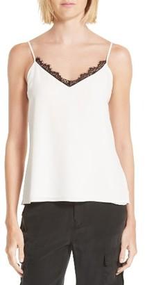 Women's L'Agence Lia Lace Trim Silk Camisole $205 thestylecure.com