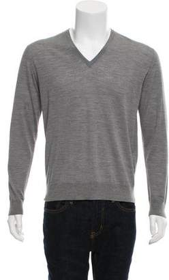 Prada Virgin Wool V-Neck Sweater