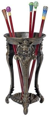Toscano Design Mythological Greek Satyr Cast Iron Walking Stick and Umbrella Stand