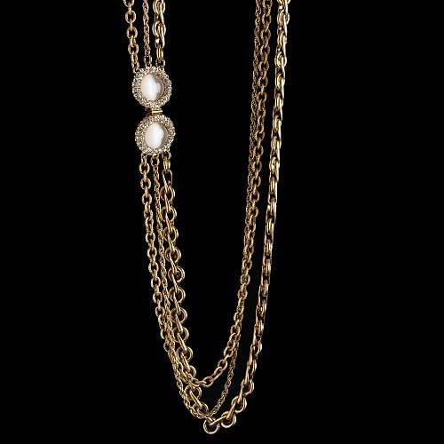 Triple-strand treasure necklace