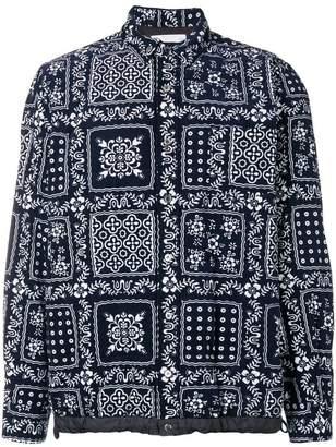 Sacai patterned shirt jacket
