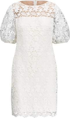 Ralph Lauren Lace-Yoke Jersey Dress