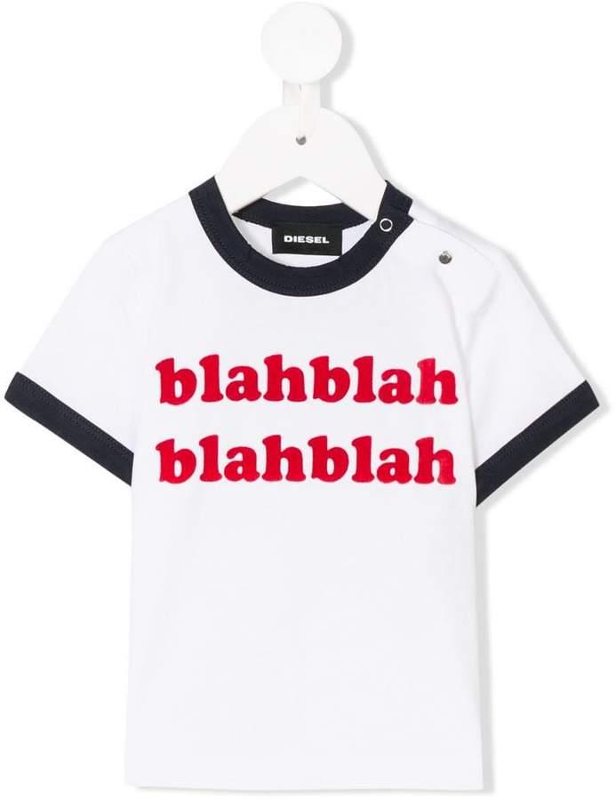 blahblah print T-shirt