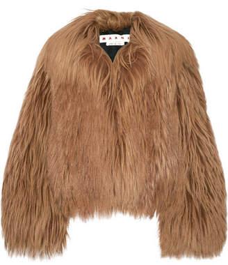 Oversized Goat Hair Coat - Light brown