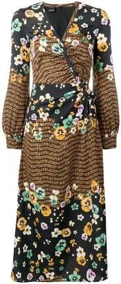 Pinko floral flared midi dress