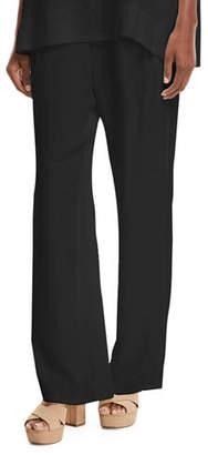 Go Silk Silk Crepe Easy Contrast-Trim Pants, Plus Size