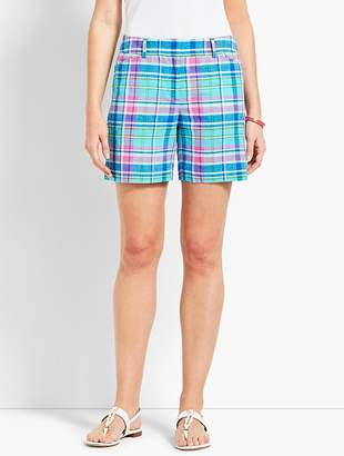 "Talbots 5"" Sea Madras Perfect Short"