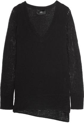 Line Dori asymmetric cashmere sweater $275 thestylecure.com
