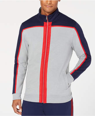 Club Room Men's Colorblocked Fleece Full-Zip Jacket