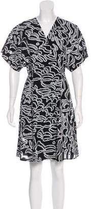 Diane von Furstenberg Abstract Print Knee-Length Dress w/ Tags