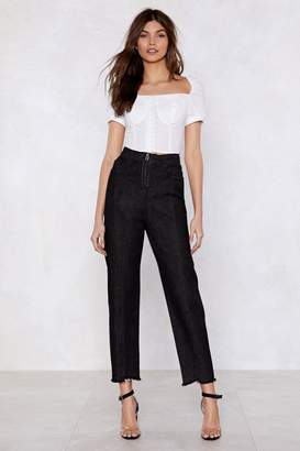 Nasty Gal Zip and Happening High-Waisted Jeans