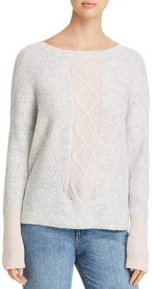 Design History Ribbed Color-Block Sweater