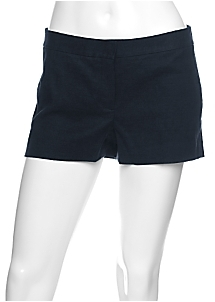 Theory Hailey Silk/Linen Twill Stretch Shorts